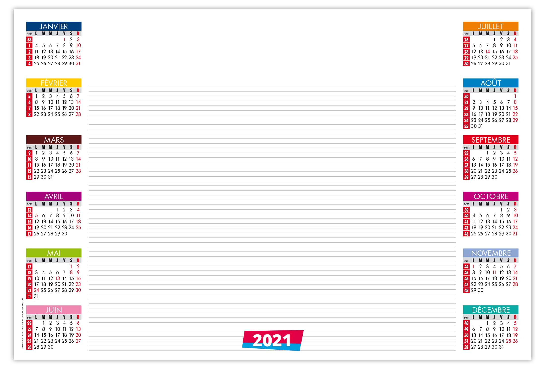 Calendrier Sous Main 2021 Sm Bureau 2021   Calendrier 2021   Sérigraphie & Impression APO Pub