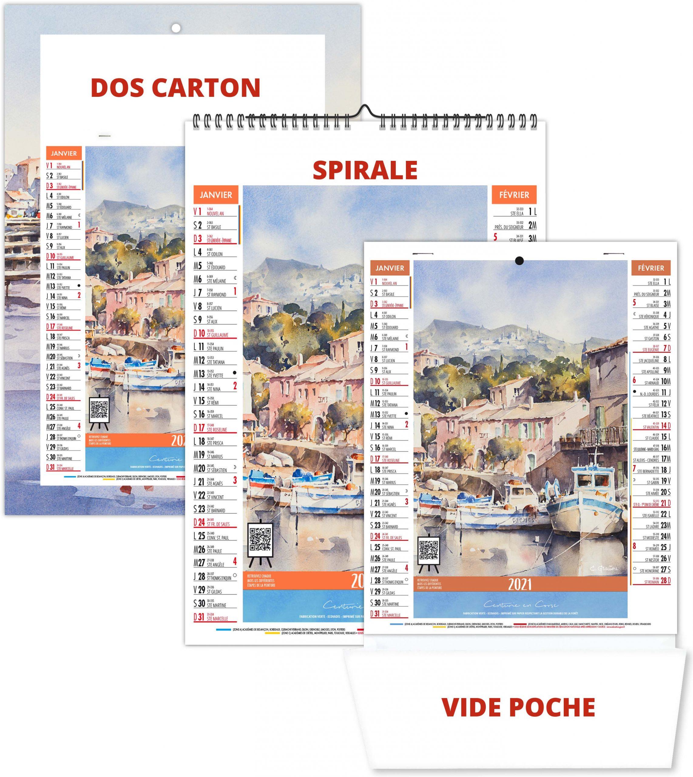 Bloc Illustré 6 Feuillets Zoé 2021   Calendrier 2021   Sérigraphie
