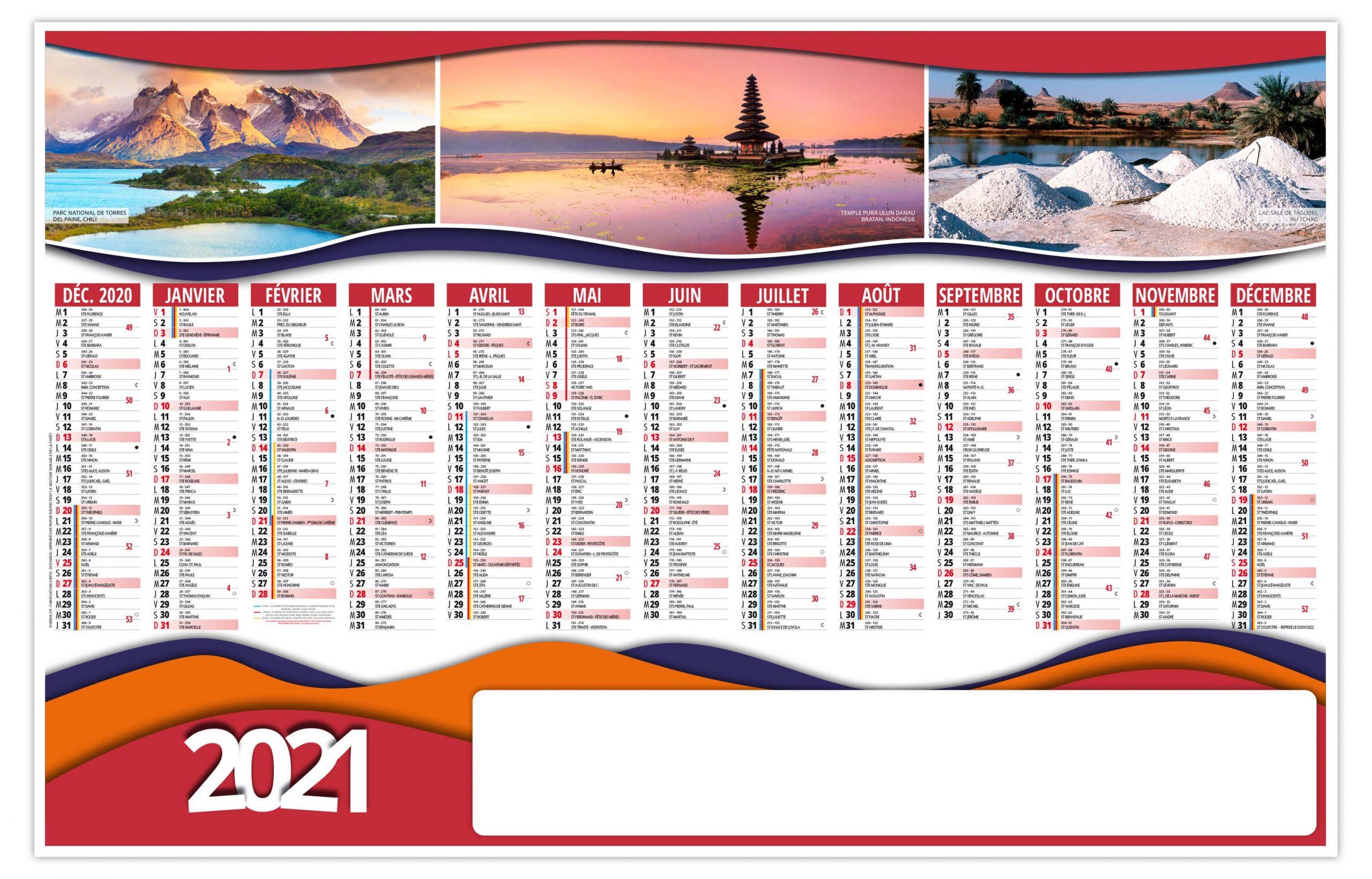 Richesses 2021   Calendrier 2021   Sérigraphie & Impression APO Pub