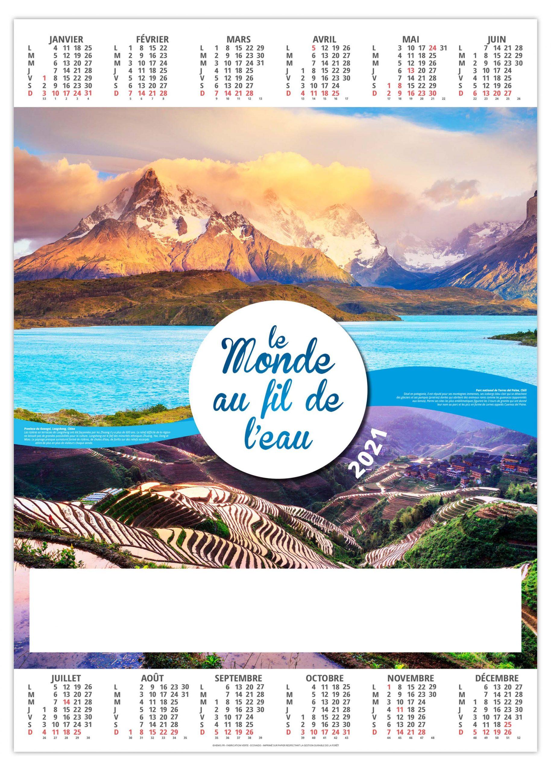 Poster Monde 2021   Calendrier 2021   Sérigraphie & Impression APO Pub