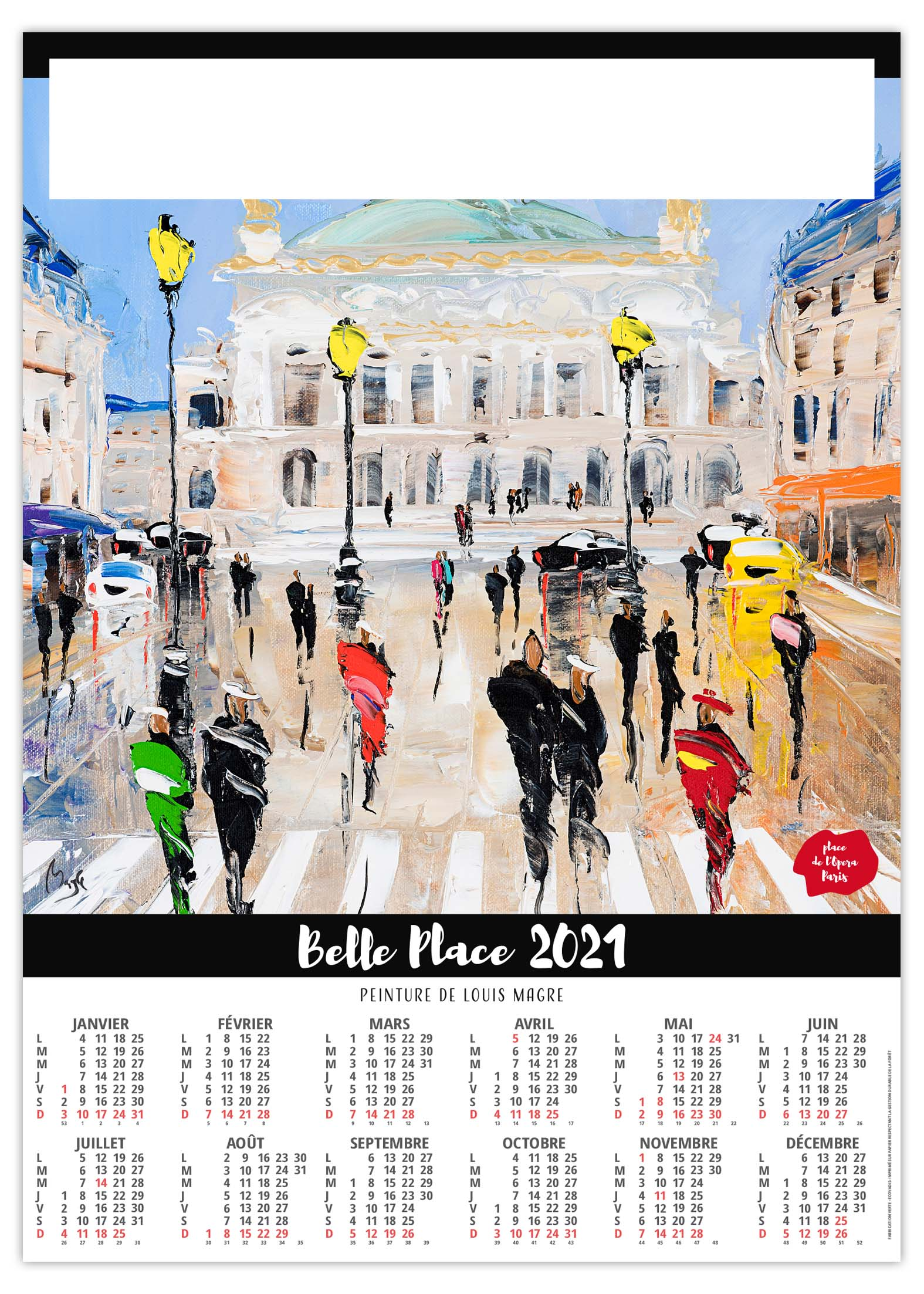 Poster Belle Place 2021   Calendrier 2021   Sérigraphie